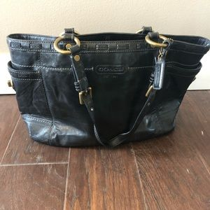 Coach Black Glossy Patent Leather Bag